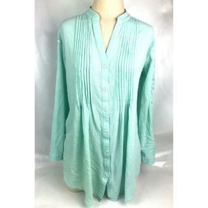 Soft Surroundings Tunic Top Embroidered Shirt Sz M